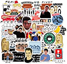 50pcs Friends TV Show Theme Stickers Laptop Stickers Computer Vinyl Sticker Waterproof Bike Skateboard Luggage Decal Graffiti Patches Decal (Friends)