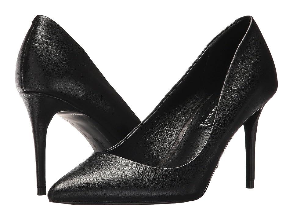 Steven Local Pump (Black Leather) High Heels