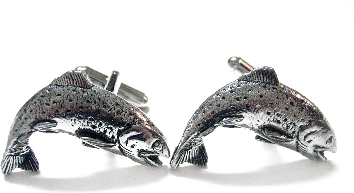 Curved Trout Fish Cufflinks
