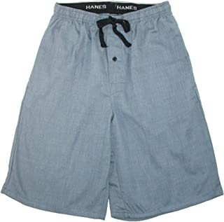 Hanes Men's Cotton Madras Drawstring Sleep Pajama Shorts