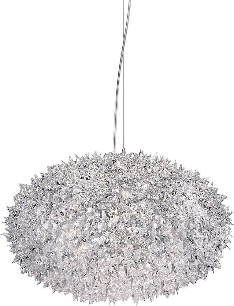 Kartell bloom, lampada a sospensione, cristallo 09265B4