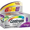 Centrum Silver Women (100 Count) Multivitamin / Multimineral Supplement Tablet, Vitamin D3, Age 50+