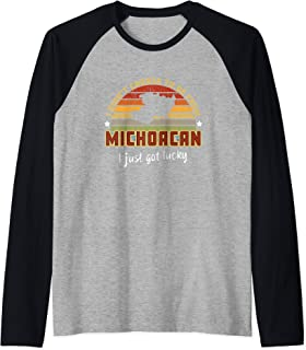 I didn't Choose to Be From Michoacan Mexico I just Got Lucky Raglan Baseball Tee