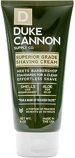 Duke Cannon Men's Shaving Cream, 6 Ounce/Aluminum-free, Dye-free, Paraben-free
