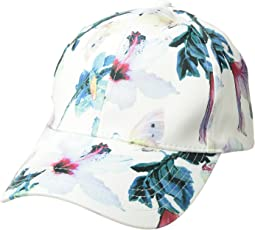 Collection XIIX Tropical Floral Satin Baseball