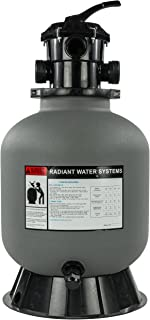 Rx Clear Radiant Sand Filter   for Above Ground Swimming Pools   19 Inch Tank   6-Position Valve   Comes with 1.5 Inch Threaded Connections   175 Pound Sand Capacity   Up to 21,000 Gallons