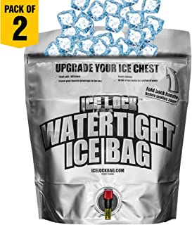 Large Watertight ICE Bag for Coolers. NOT JUST an ICE Pack! 2 in 1: 15