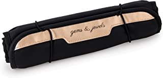 Miamica Women's Jewelry Roll Travel Accessories, Rose Gold, One Size