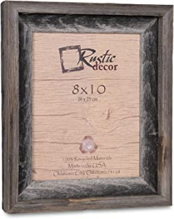 8x10 Picture Frames -Signature Barnwood Reclaimed Wood Photo Frames