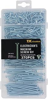 T.K.Excellent Flat Head Phillips #6-32 Electrician's Machine Screw Kit,370 Pcs
