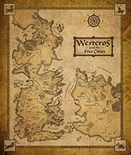 Tomorrow sunny 47x32 INCH/ART SILK POSTER/Game Of Thrones Houses Map Westeros And Free Cities poster home decoration wall Sticker