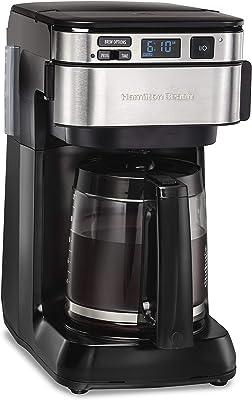 Hamilton Beach 46310 Programmable Coffee Maker, 12 Cups, Black (Renewed)