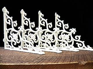 Lot/Set 4 Antique-Style Paintable OFF-WHITE Cast Iron FANCY 9 1/2