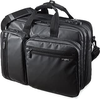 SANWA (Japan Brand 15.6 inch Laptop Computer & Tablet Bag, Expandable Business Briefcases, Messenger Bag, Water Resistance,Handbag Shoulder Large Travel Backpack (for MacBook Dell HP Men Women)
