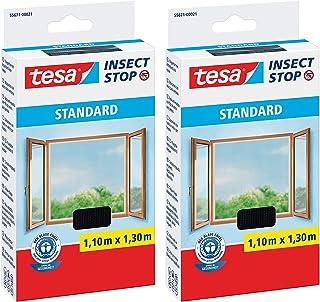 tesa Insect Stop STANDARD vliegenhor voor ramen - insectenbescherming op maat te snijden - muggenbescherming zonder boren...