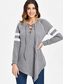 DRESSFO Pullover Tops For Women, Grey XL