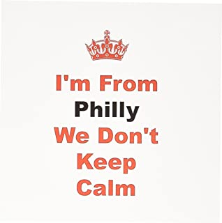 3dRose dont keep calm, Philly, red and blue lettering on white background - Greeting Cards, 6 x 6 inches, set of 12 (gc_180033_2)