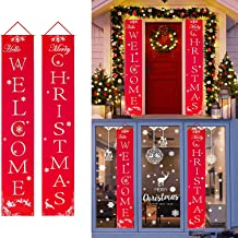 Merry Christmas Banner - Aywewii Christmas Porch Sign - Christmas Decorations Indoor Outdoor - Christmas Signs Decor for Home Wall Door Office Garage