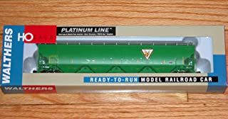 WALTHERS 932-41102 Platinum LINE Trinity 6351 4-Bay Covered Hopper NAEX 20115 Green