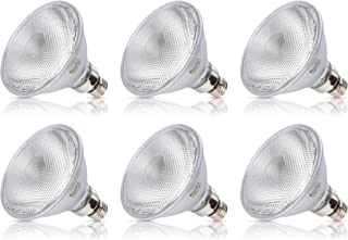 Simba Lighting 70PAR38/FL Halogen PAR38 Light Bulb 70W 30deg Spotlight Dimmable (6-Pack) for Indoor Recessed Can and Outdoor PAR 38 Security Light, 120V E26 Base, 100W Replacement, 2700K Warm White