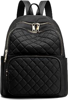 Backpack for Women, Nylon Travel Backpack Purse Black...