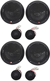 """2-Pair Rockford Fosgate P16-S Punch 6"""" 240w Car Audio Component Speakers P16S"""