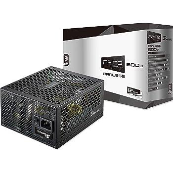 Seasonic PRIME 600 Titanium SSR-600TL 600W 80+ Titanium ATX12V & EPS12V Fanless Super Quiet 12 Year Warranty Power Supply