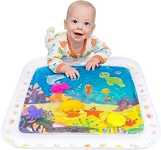 کودک و نوزادان اسباب بازی - Time Tummy Water Play Mat - مرکز فعالیت های توسعه دهنده حسی تورم - اسباب بازی های نوزاد - کودک اسباب بازی کامل برای 3 4 6 9 12 ماهه و کودک نو پا پسر یا دختر هدیه - BPA رایگان