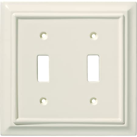 Wall Plate//Switch Plate//Cover Classic Architecture Double Toggle Switch Satin Nickel
