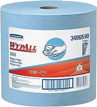 WypAll 34965 X60 Cloths, Jumbo Roll, 12 1/2 x 13 2/5, Blue, 1100/Roll