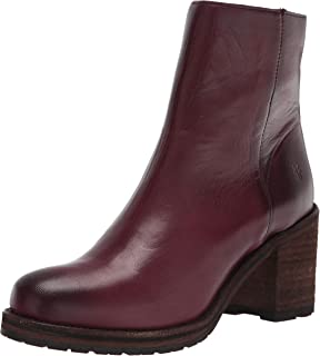 Frye Women's Karen Inside Zip Short Ankle Boot, Burgundy, 10