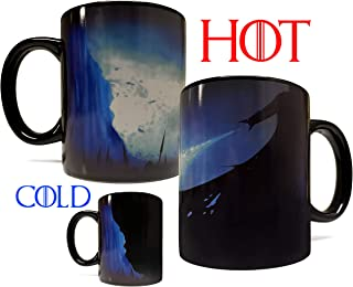 Color Changing Heat Activated ICE DRAGON 11oz Ceramic Mug/Cup - Inspired by Game Of Thrones - Foam Box Protection - Grade A Quality (Perfect Gift)
