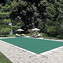 Happybuy Pool Safety Cover Fits 20x40ft Rectangle Inground Safety Pool Cover Green Mesh Solid Pool Safety Cover for Swimming Pool Winter Safety Cover
