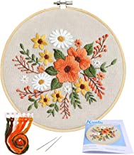 Full Range of Embroidery Starter Kit with Pattern, Kissbuty Stamped Embroidery Kit Including Embroidery Cloth with Pattern...