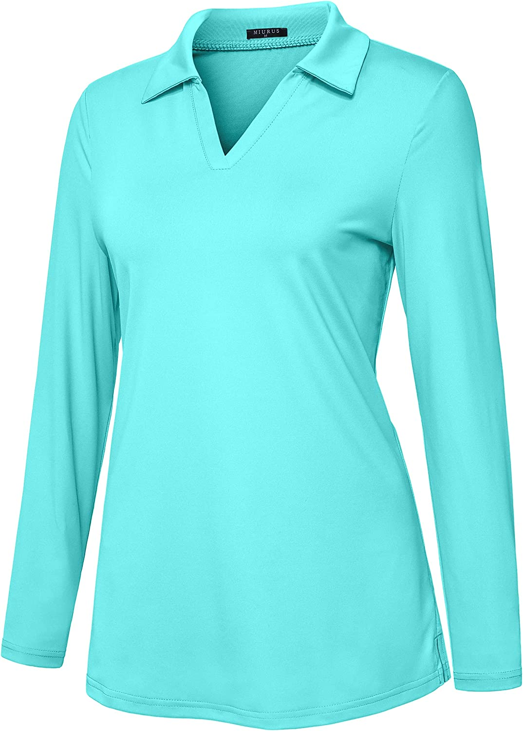 KORALHY Women's Golf Polo Excellent Long Sleeve Dry Inventory cleanup selling sale Te Quick Neck Shirts V