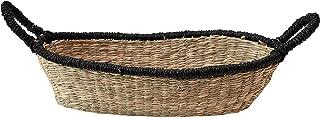 Bloomingville Seagrass Handle & Black Trim, Natural Basket