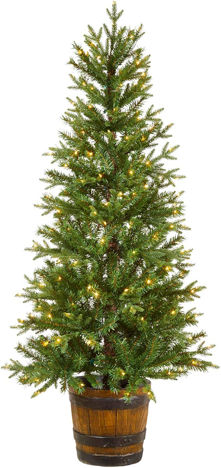 NOMA 5-Ft Arctic Super beauty product restock quality Max 60% OFF top Spruce Potted Christmas E 200 White Warm Tree