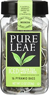 Pure Leaf Iced Tea Bags, Green Tea with Citrus 16 ct (Pack of 6)