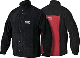 Lincoln Electric Heavy Duty Leather Welding Jacket | Ideal for High Amperage or Out of Position Welding | Medium | K2989-M