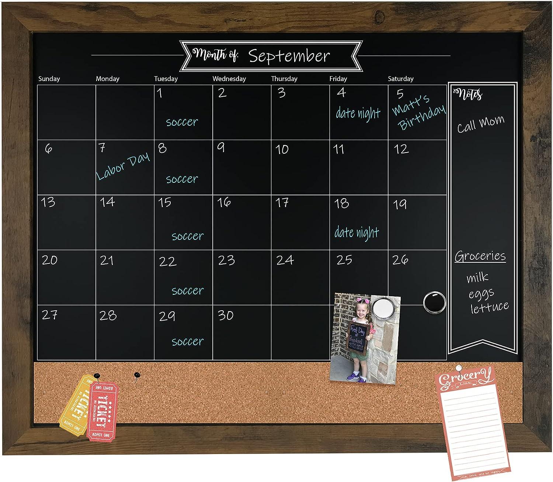 Loddie Doddie 18x24 Rustic Framed Calendar and Chalkboard Excellence Popular overseas Bullet
