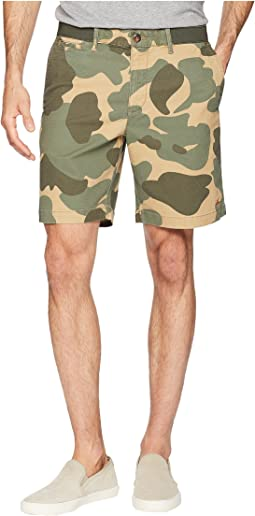 "Elasticated Waistband Camo Print 8"" Slim Fit w/ Stretch Shorts"