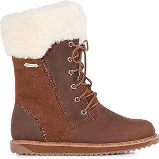 Shoreline Leather Womens Waterproof Sheepskin Boots
