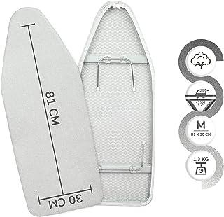 NAWA Tabletop Tabla De Planchar Sobremesa, Metal, Funda Metalizada, 81.0 x 31.5 cm