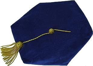 GraduationMall Graduation Doctoral Tam Velvet with Gold Bullion Tassel