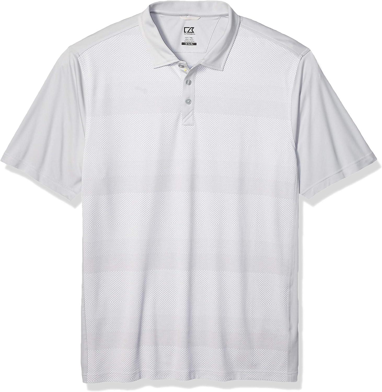 Cutter & Buck Men's Moisture Wicking Drytec Crescent Jersey Print Polo Shirt