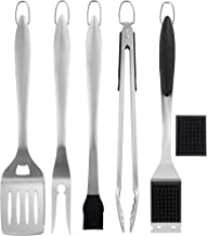 ROMANTICIST 6pc Heavy Duty Grill Accessories Set for Outdoor Top Chef - Professional & Basic Grill Tool for Restaurant Backyard Camping Kitchen Boat - Deluxe Grill Gift for Dad on Christmas