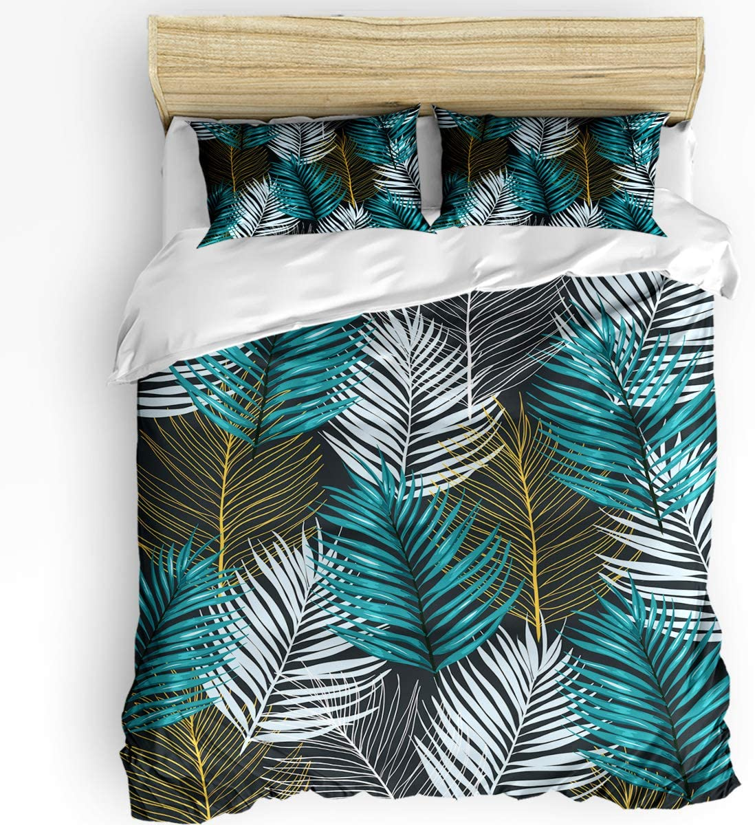 HELLOWINK Duvet Cover 3 Piece Rare Bedding Set Size Twin Tropical Pa 2021 new