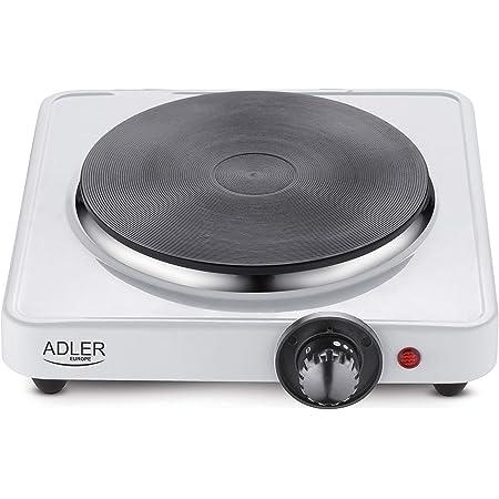Adler AD-6503 AD 6503 – Feu électrique, 1500 W, Blanc