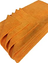 Detailer's Preference Eurow Ultrasonic Cut Maximum Absorption Premium Cleaning Towels 350gsm Orange 16 x 16 Inches 12 Pack