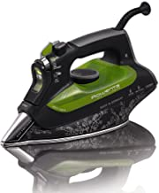 Rowenta DW6080 Eco-Intelligence 1700-Watt Energy Saving Steam Iron Stainless Steel Soleplate with Auto-Off, 400-Hole, Black